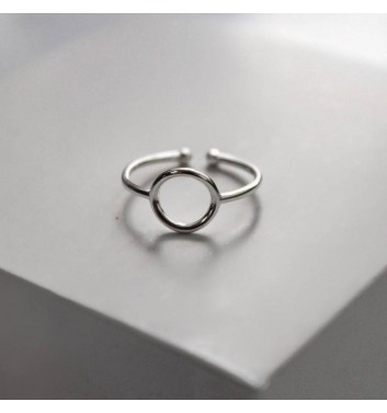 Ring Argent jewellery Emply circle rounded
