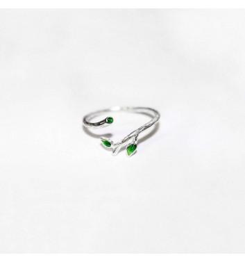 Кольцо Argent jewellery Green leaves