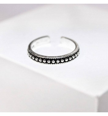 Ring Argent jewellery Dark with dots