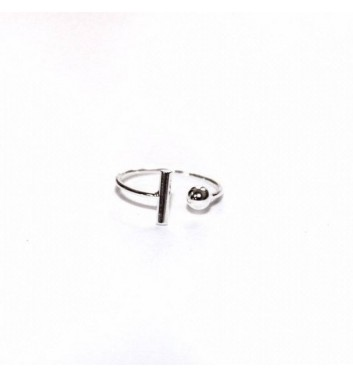 Ring Argent jewellery Ball and Stick