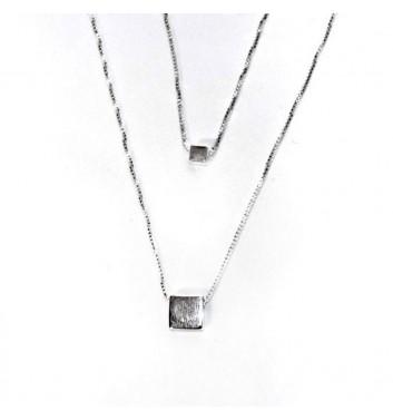 Pendant Argent jewellery Two Squares