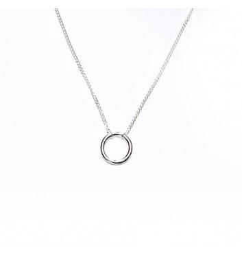 Pendant Argent jewellery Empty circle