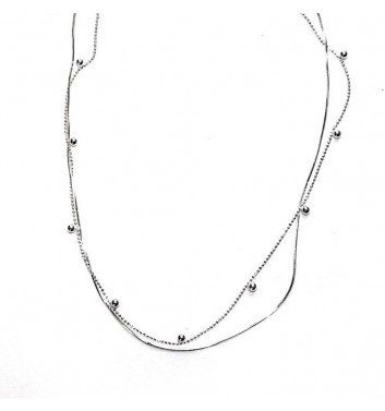 Pendant Argent jewellery Two chains and Balls