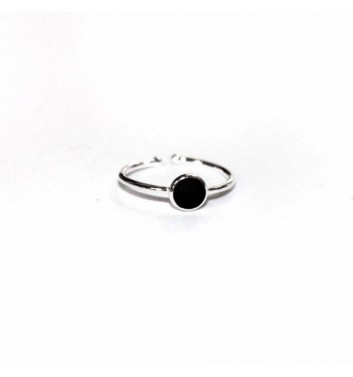 Ring Argent jewellery Black Circle