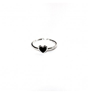 Кольцо Argent jewellery Black Heart