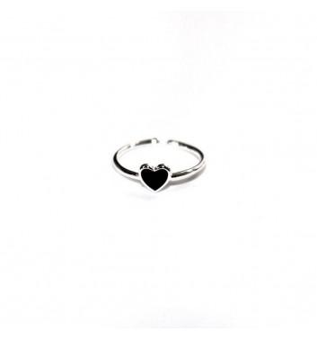 Ring Argent jewellery Black Heart