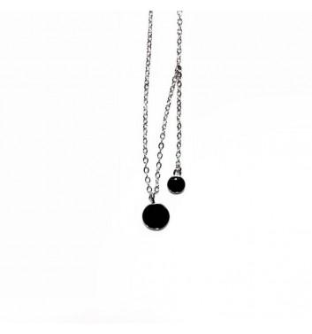 Подвеска Argent jewellery Two Black Circle