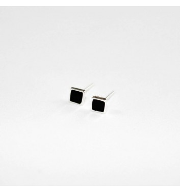 Earrings Argent jewellery Black Square
