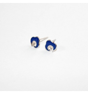 Earrings Argent jewellery Blue wave