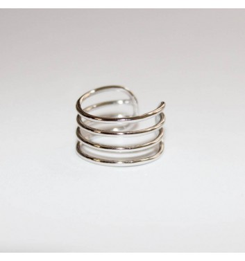 Ring Argent jewellery Four lines