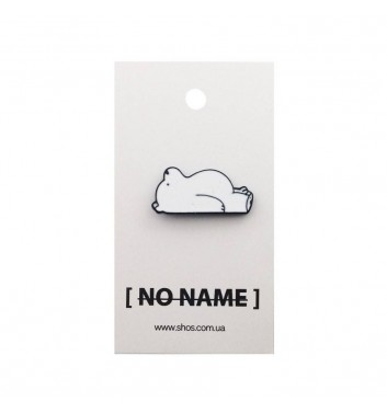 Pin No name Bare Bears White
