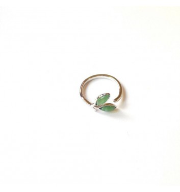 Каблучка Argent jewellery Two green leaves