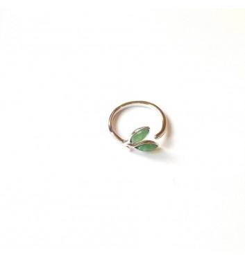 Кольцо Argent jewellery Two green leaves