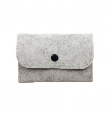 Wallet Cuters Felt Skinny Gray