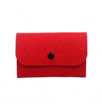 Wallet Cuters Felt Skinny Red