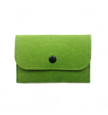 Wallet Cuters Felt Skinny Green