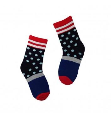 Шкарпетки No name Dark Blue Dots Pattern