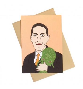Postcard Unicorn and Wine Howard Lovecraft