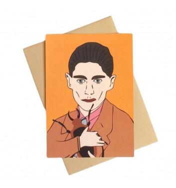 Postcard Unicorn and Wine Franz Kafka