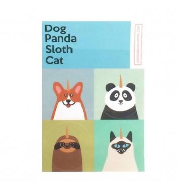 Set of stickers Unicorn and Wine Dog Panda Sloth Cat