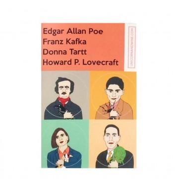 Set of stickers Unicorn and Wine Poe Kafka Tartt Lovecraft