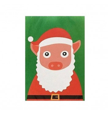 Открытка Unicorn and Wine Pig Santa