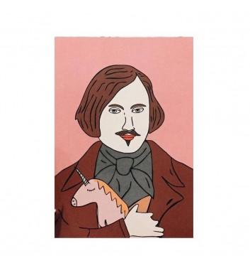Postcard Unicorn and Wine Gogol Nikolay