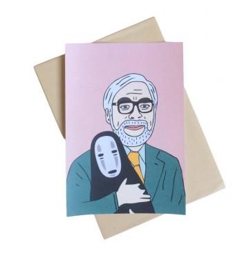 Postcard Unicorn and Wine Hayao Miyazaki