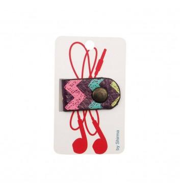 Тримач навушників Shirma Colored Zigzag