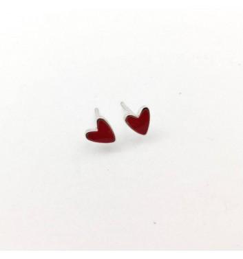 """Earrings """"Hearts Red"""""""