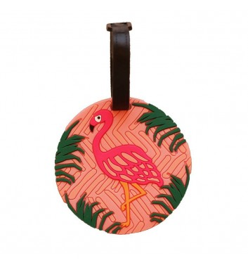 Luggage tag Take me away Flamingo