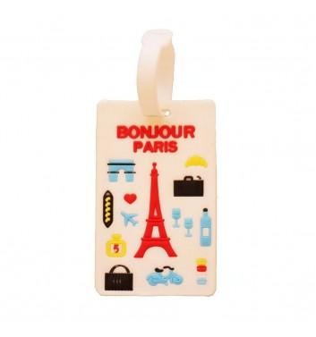 Бирка для багажа Take me away Bonjour Paris