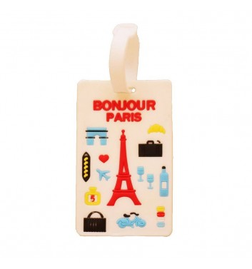 Luggage tag Take me away Bonjour Paris