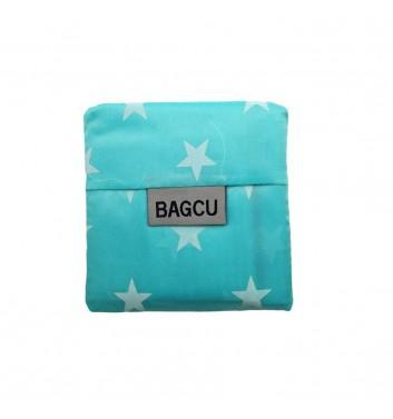 Eco-bag Bagcu Turquoise stars