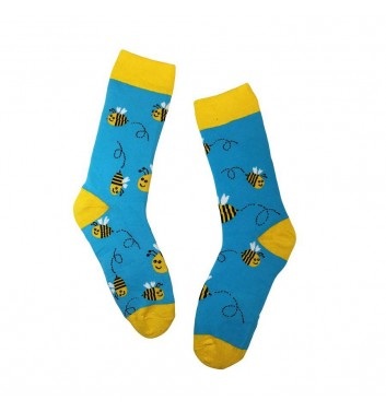 Socks No name Bee Blue