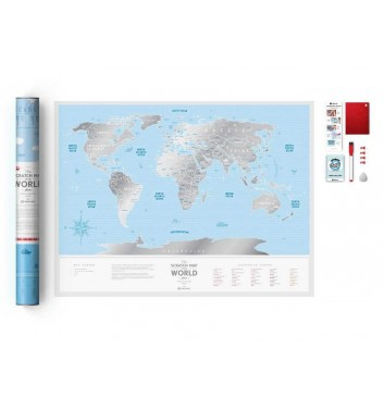 Скретч карта мира 1dea.me Travel Map Silver World
