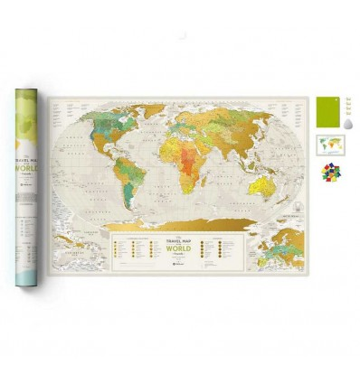 Scratch World Map Travel Map «Geography World» 1dea.me