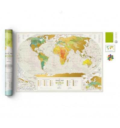 Скретч карта світу Travel Map « Geography World» 1dea.me