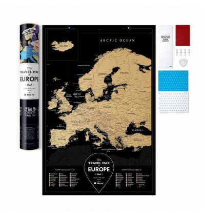 Скретч карта Европы Travel Map «Black Europe»