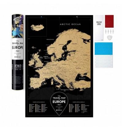 Скретч карта Європи Travel Map «Black Europe»