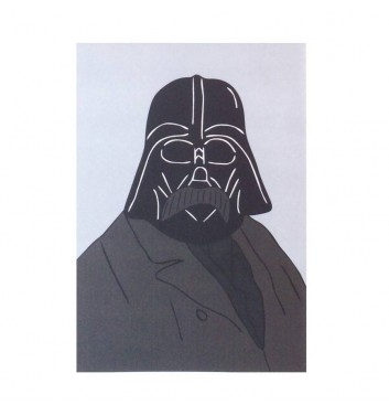 Postcard Unicorn and Wine Shevchenko Darth Vader