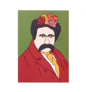 Postcard Unicorn and Wine Shevchenko Frida