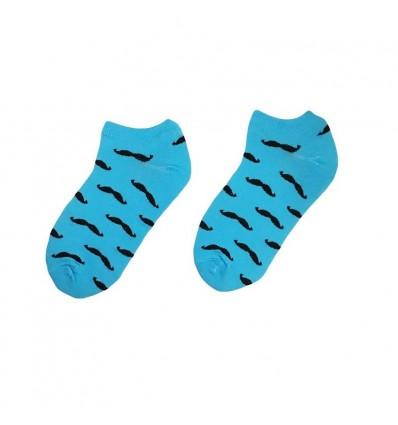 Короткие Носки No name Mustache blue