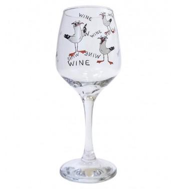 Wineglass Papa Design Gulls