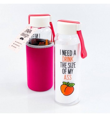Пляшка для води Papa Design Peach
