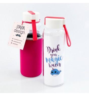 Бутылка для воды Papa Design Fish