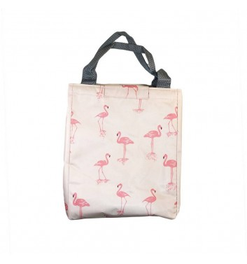 Lunch-bag Leaf Flamingos Pink