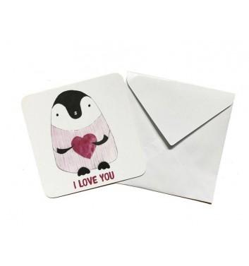 Мини открытка EgiEgi Cards Пингвин