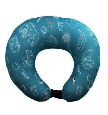 Travel pillow Machka Sala4ka Turquoise