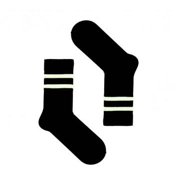 Шкарпетки Sox Чорні з білими лініями